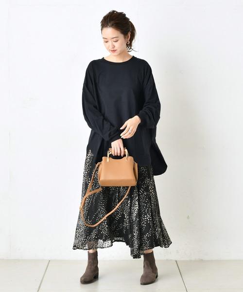 [DouDou] ジャガードドットプリントスカート