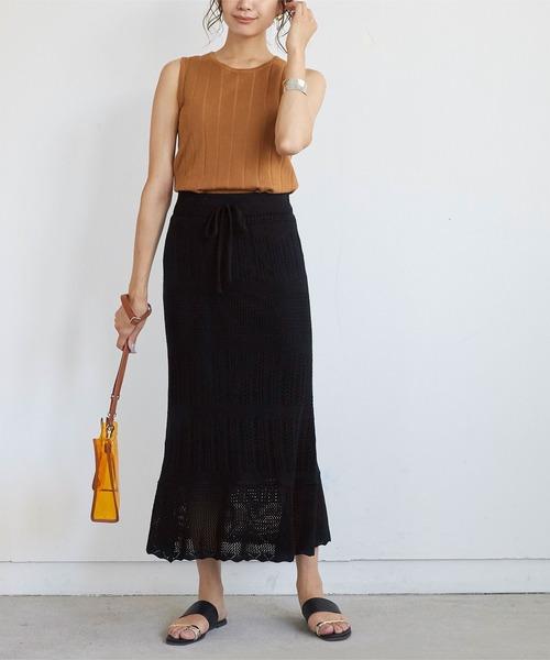 [titivate] かぎ針編みニ[titivate] かぎ針編みニットマーメイドフレアスカートットマーメイドフレアスカート