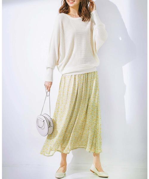 [GeeRA] 【20春新着】シフォンプリントフレアースカート