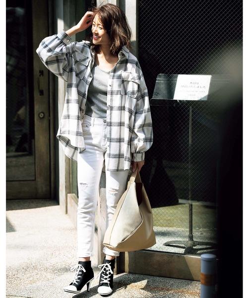 [GeeRA] 【20春新着】ボーイズライクビッグシャツ