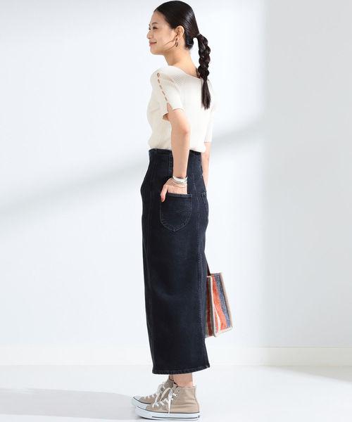 [BEAMS WOMEN] Lee / スリット スカート