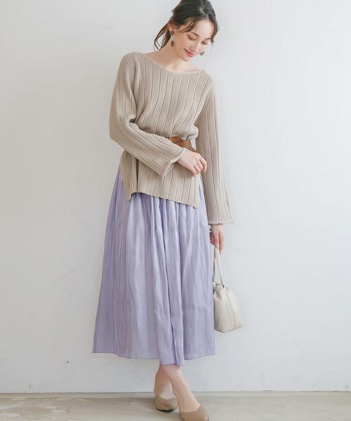 [rectangle] サテン×チュールリバーシブルスカート