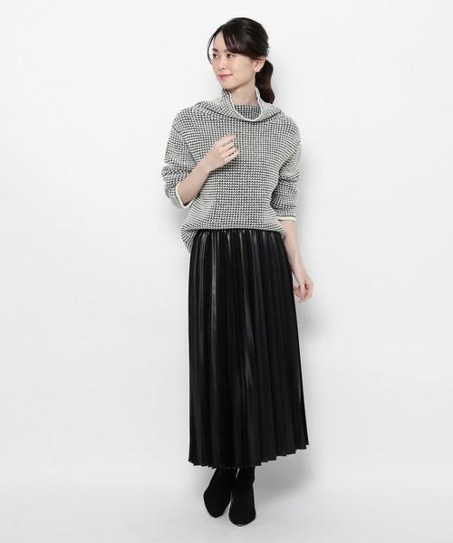 [WORLD ONLINE STORE SELECT] モードサテンプリーツスカート