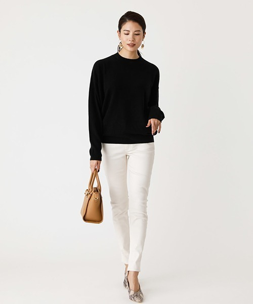 [AZUL BY MOUSSY] NUDIE H/N KNIT TOPS/ヌーディーハイネックニットトップス