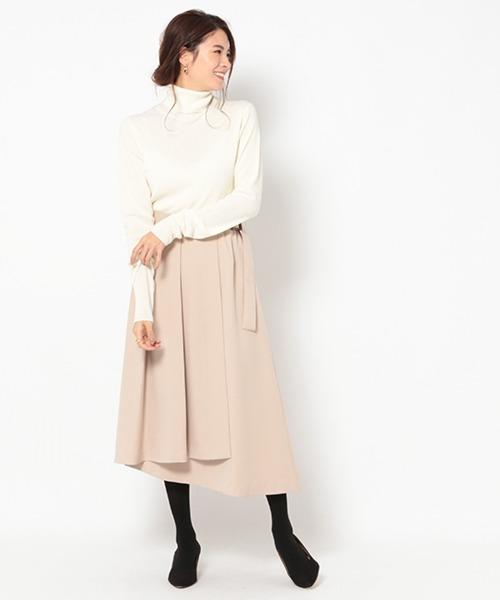 [BABYLONE] タックイレヘムスカート