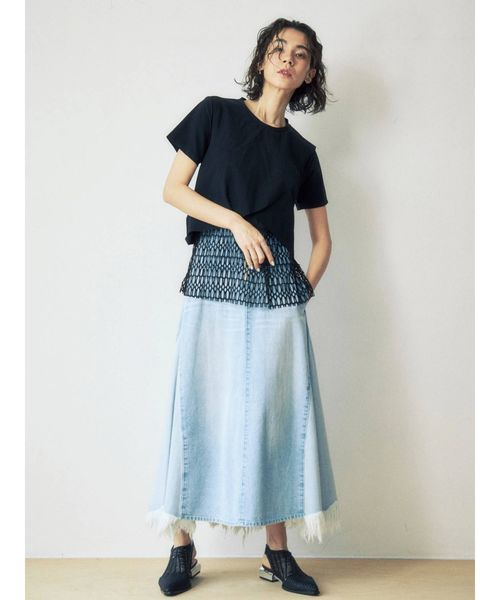 [UN3D.] アシンメトリーデニムスカート