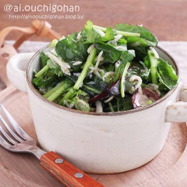 簡単な和え物レシピ!パクチーとしらすのサラダ