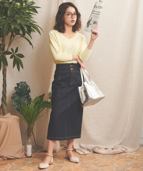 [Noela] バックフレアタイトスカート