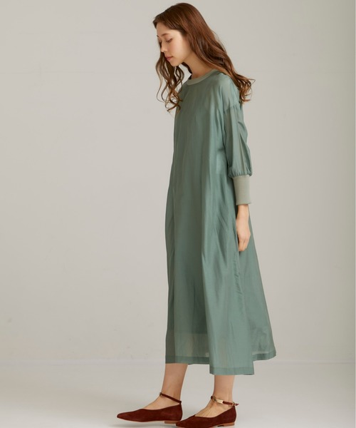 [TOKYO DEPARTMENT STORE] 【Audrey and john wad】2WAY Orver dress/2wayリブ付ワンピース/H4407