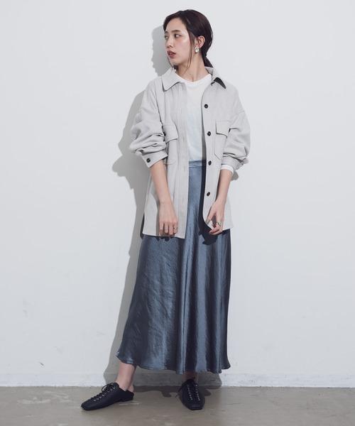[YARD PLUS/AUNT MARIE'S] AUNT MARIE'S ボンディングスエードCPOシャツジャケット