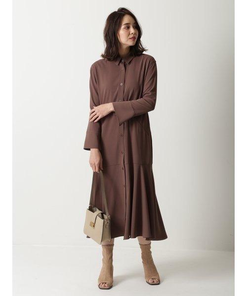 [Mila Owen] マーメイドラインジャージシャツドレス
