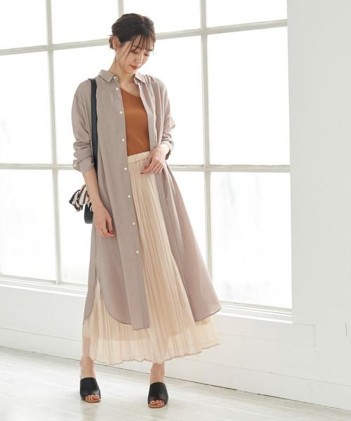 [ROPE' PICNIC] 【WEB限定】プリーツオーガンジースカート