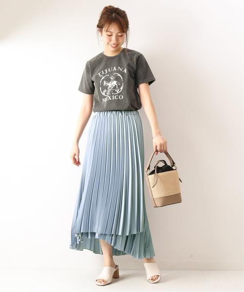 [Spick & Span] サテンラッププリーツスカート5◆