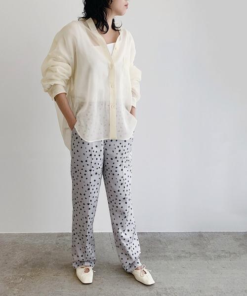 ホワイトシアーシャツ