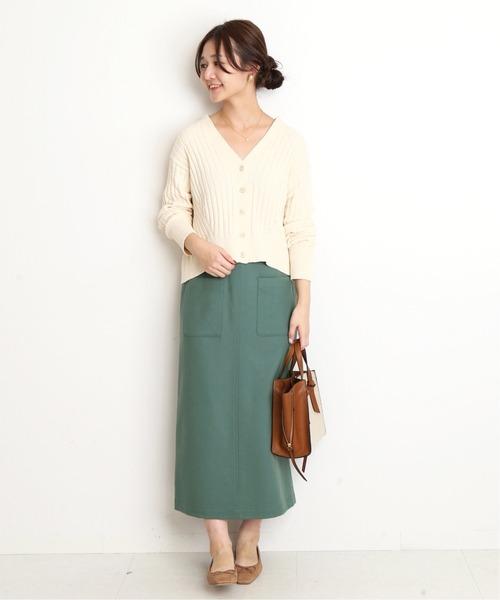 [IENA] サイドポケットタイトスカート◆