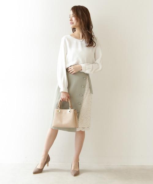 [PROPORTION BODY DRESSING] サイドレースタイトスカート