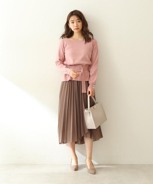 [PROPORTION BODY DRESSING] ラップシフォンシアープリーツスカート