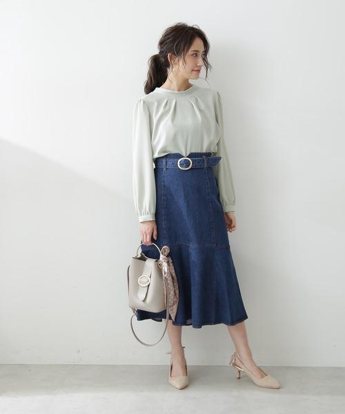 [PROPORTION BODY DRESSING] マーメイドミモレデニムスカート