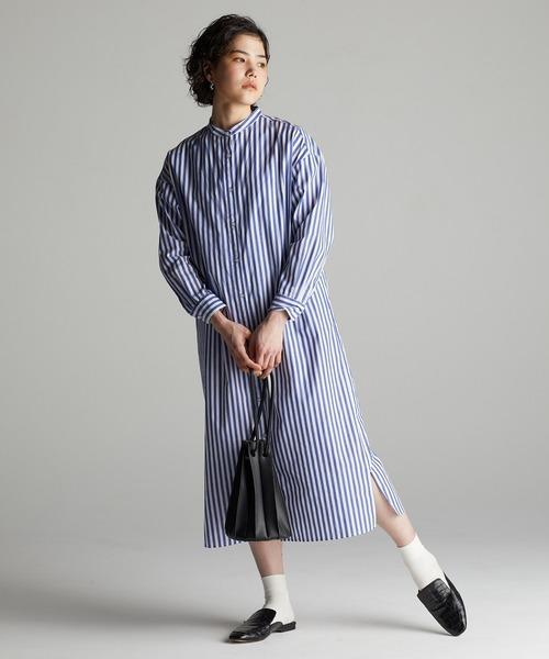 [koe] 【2020春夏】バンドカラーシャツワンピース *