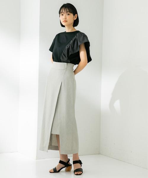 [STUDIOUS WOMENS] 【STUDIOUS】ハイツイスト スリットロングスカート