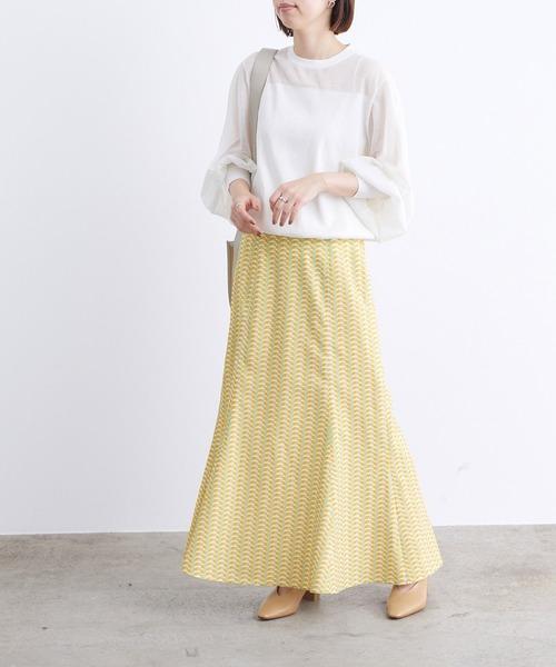 シースルートップス×マーメイドスカート