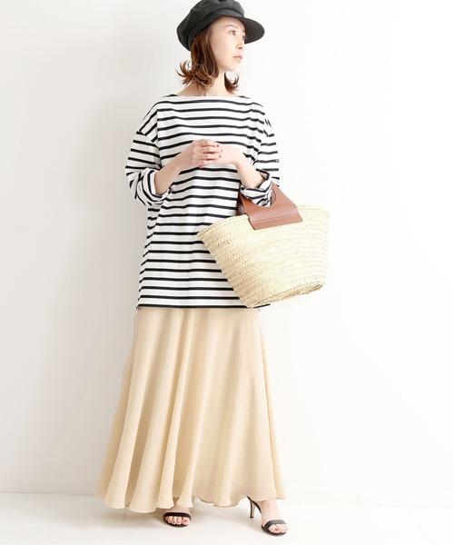 米駝色超長裙