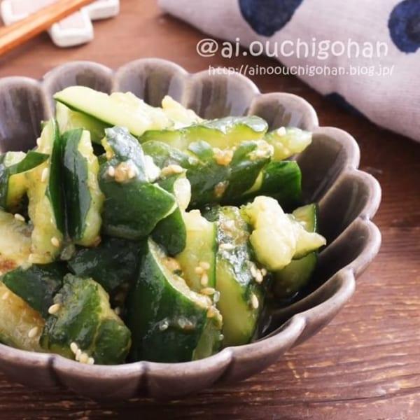 ナポリタンの副菜レシピに!おつまみきゅうり