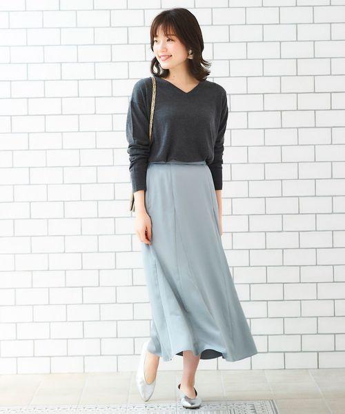 [le.coeur blanc] ビンテージサテンマーメイドスカート