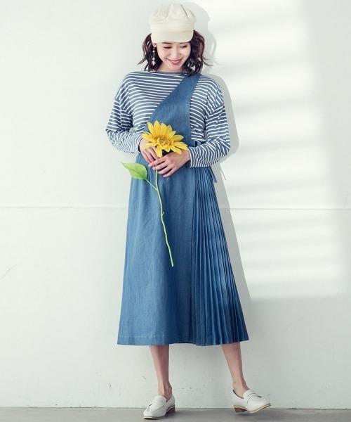 [MAYSON GREY] 【socolla】2WAYデニムジャンパースカート