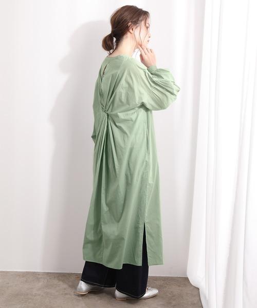 [ViS] 【WEB限定】ボリューム袖ねじりロングワンピース
