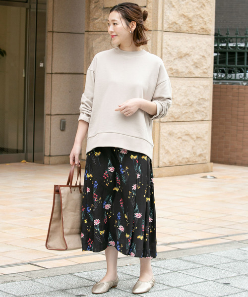 [URBAN RESEARCH ROSSO WOMEN] カラーフラワープリントスカート