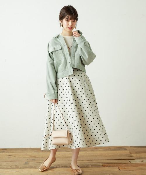 [natural couture] 春コールコンパクトショートブルゾン