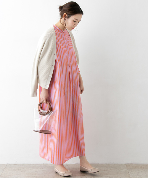 [URBAN RESEARCH ROSSO WOMEN] ストライプシャツワンピース