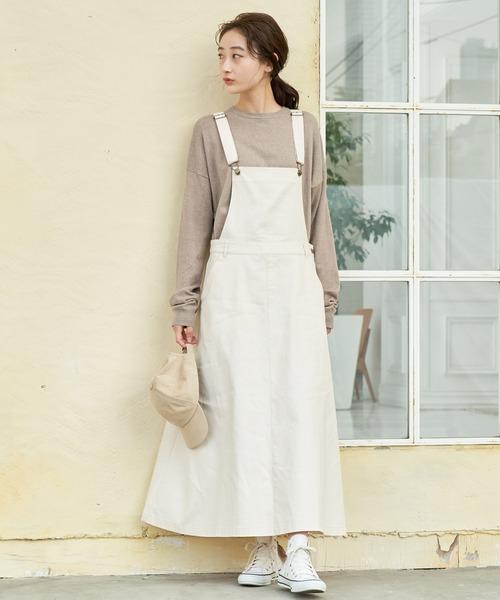 [ViS] 【WEB限定】コットンツイルジャンパースカート