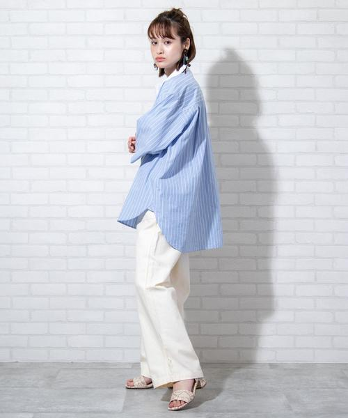 [coen] 【WEB限定カラー】ブロードバンドカラーショートスリーブシャツ#