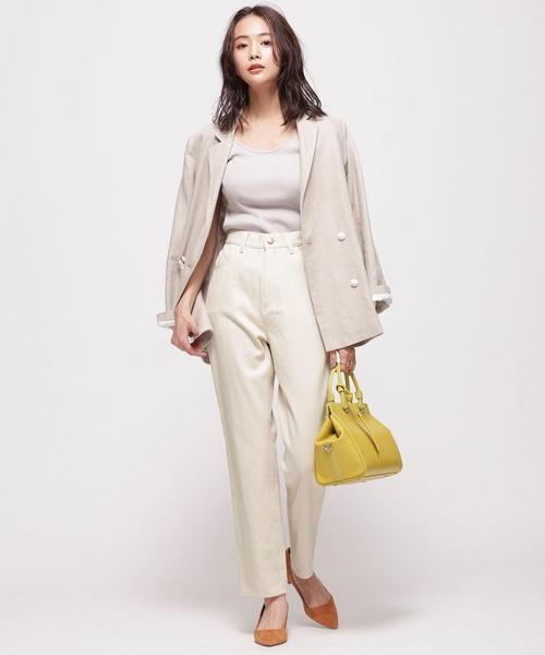 ハンサムファッション◎白デニム×テーラードJK