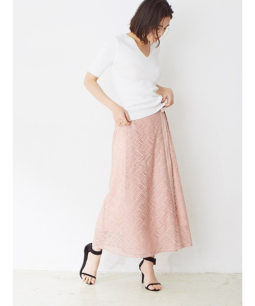 [DRWCYS] カバーレースラップスカート
