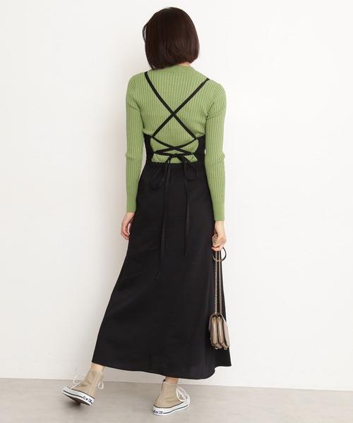 [N.(N. Natural Beauty Basic)] ◆バックレースアップジャンパースカート
