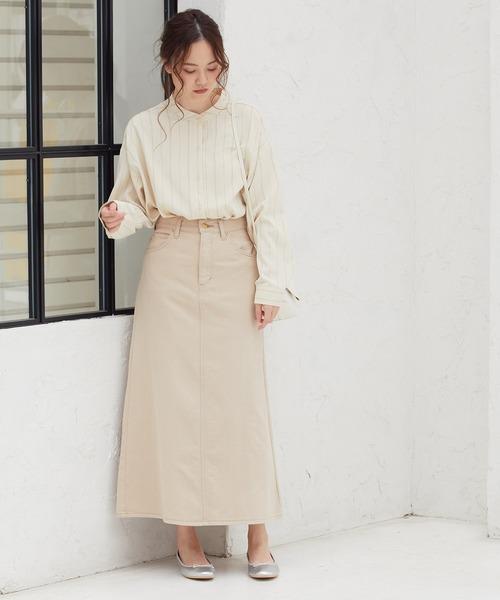 [ViS] 【Lee×ViS】Aラインデニムスカート
