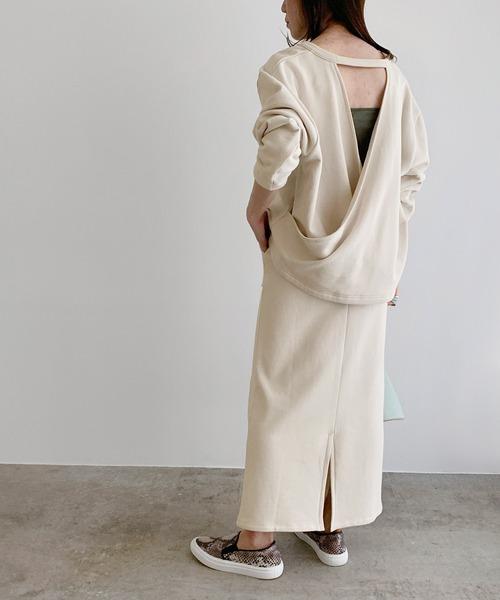 [ROPE'] 【セットアップ対応】パチポケット裏毛タイトスカート