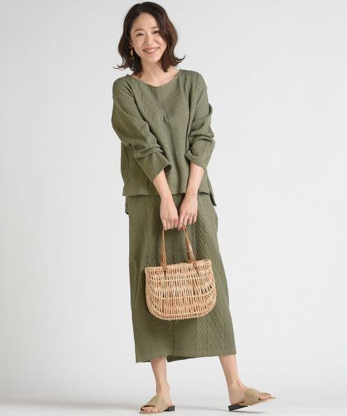 [LIPSTAR] ケーブルジャガードスカート