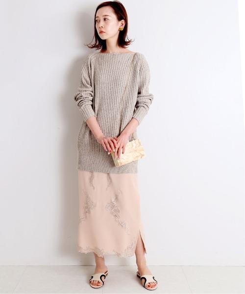 [IENA] chere Silk lace スカート◆