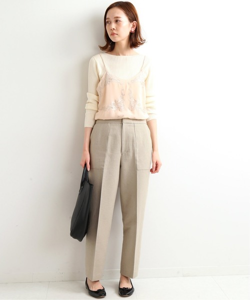[IENA] chere Silk lace Camisole◆