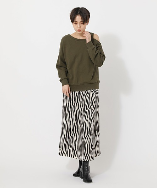 [AZUL BY MOUSSY] ZEBRA NARROW MAXI SKIRT/ゼブラナローマキシスカート