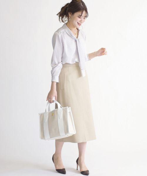 [SHIPS for women] シャークツイードスカート20SS◇