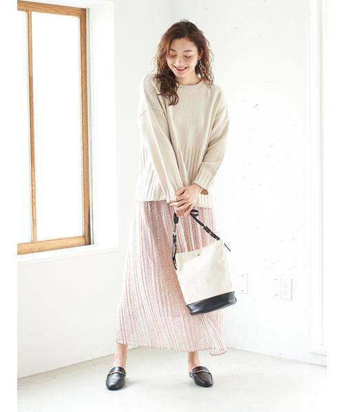 [Green Parks] 小花柄シフォンプリーツスカート*