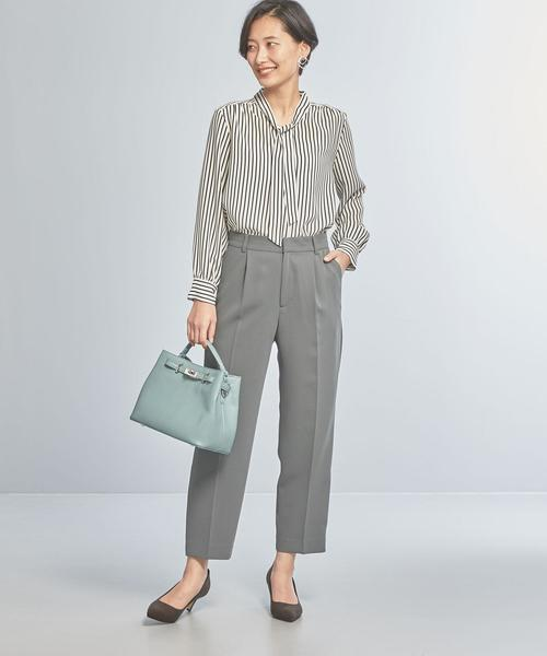 [green label relaxing] 【WORK TRIP OUTFITS】★WTO BC ボウタイ ブラウス / ストライプ / ムジ2