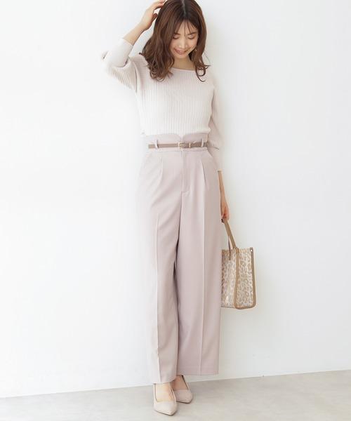 [PROPORTION BODY DRESSING] 《田中みな実さん着用》ベルト付きワイドパンツ