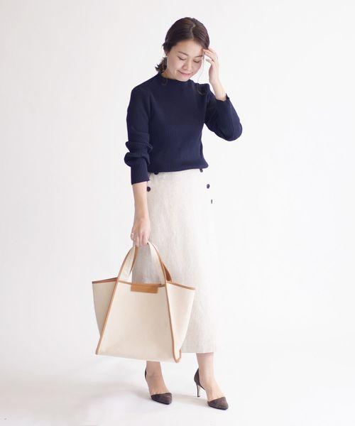 [SHIPS for women] ストライプマリンスカート◆