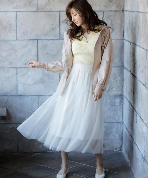[INGNI] チュールミディ/スカート